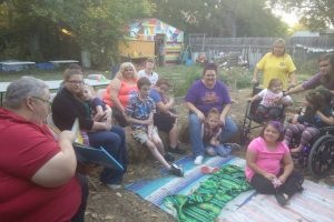 Special Needs Ability class with Girl Scouts at the Children's Garden and Outdoor Classroom