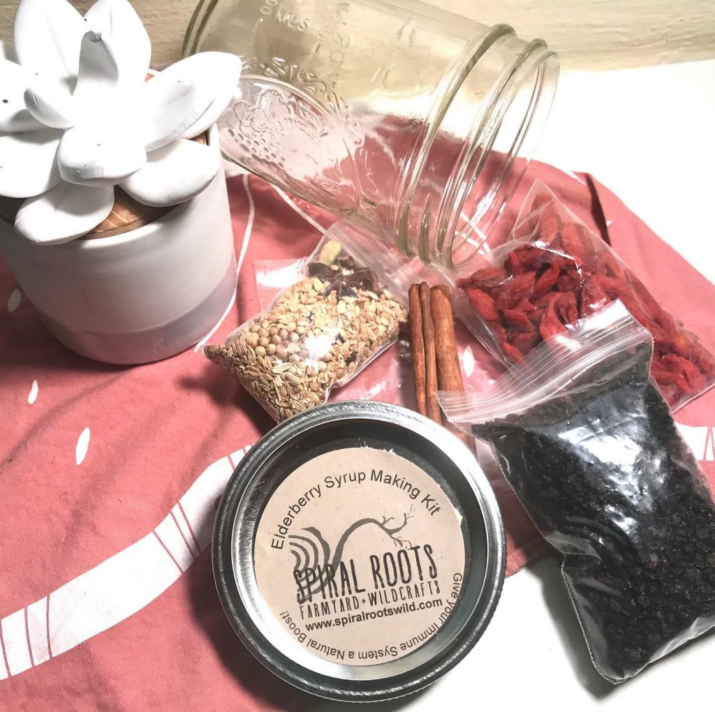 elderberry syrup kit made by spiral roots