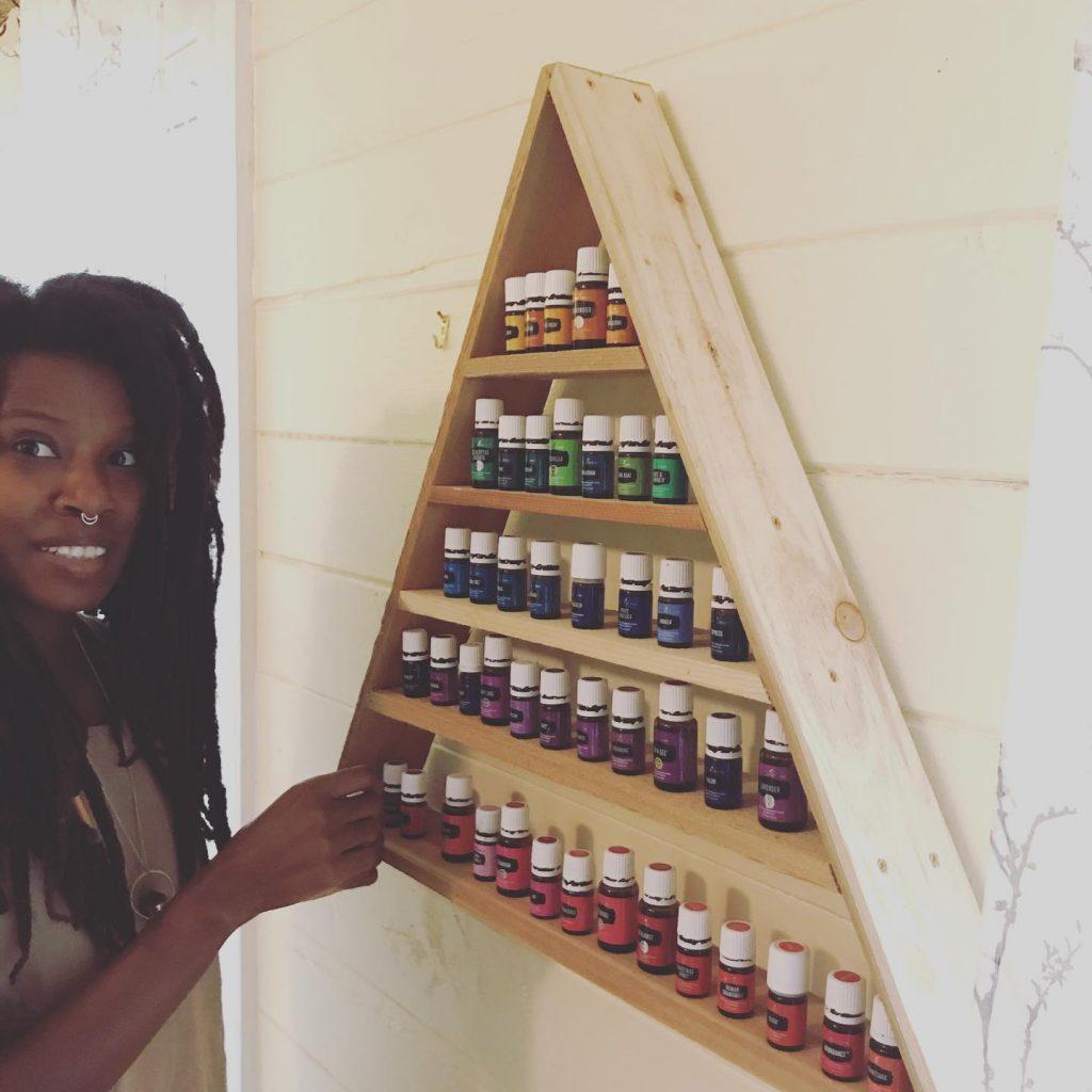 homeschooling mom using young living oils
